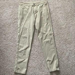 Lululemon Commission Pants (Khaki) 34 Slim